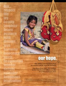 Our Hope (child) – Our children carry the lessons from our ancestors and hopes for our future?