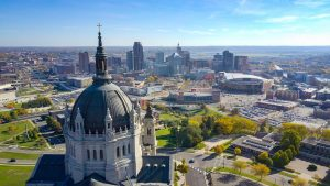 St. Paul, MN Capitol aerial view photo
